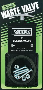 VALTERRA 3 INCH WASTE VALVE W/METAL HANDLE