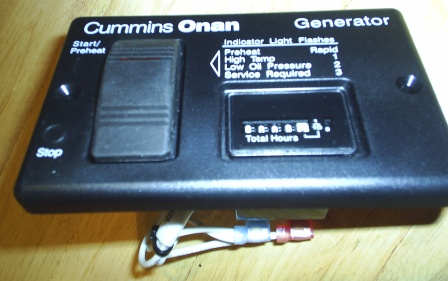 Onan 300-4943 Remote Panel w/Hour Meter for Diesel