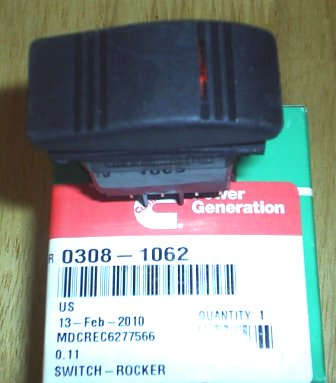 Onan 308-1062 Rocker Switch