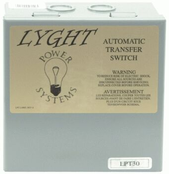 Lyght Power Systems 30 Amp Transfer Switch