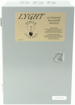 Lyght Power LPT75CA 75 AMP TRANSFER SWITCH
